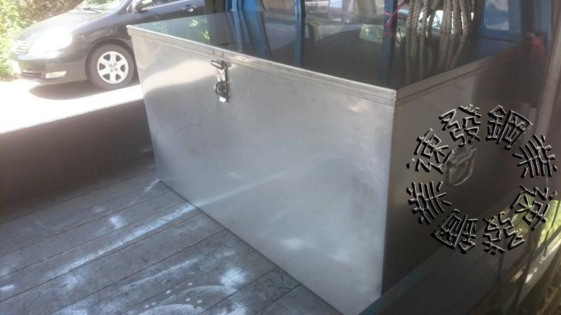 速發~白鐵304平口式不鏽鋼防水貨車車斗工具箱防盜大型工地專用工具箱鐵箱子加工廢棄物箱置物箱白鐵盒白鐵箱加工製作