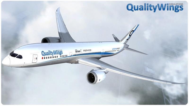 """QualityWings 787 for Prepar3D V4 64 bit """"FSX 升級專案''"""