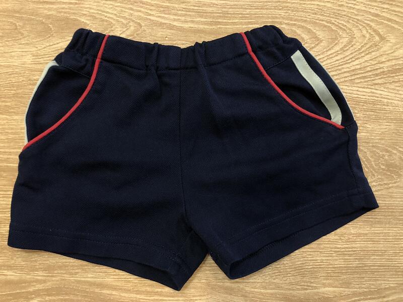 運動風短褲 棉質 有口袋 約1~2歲