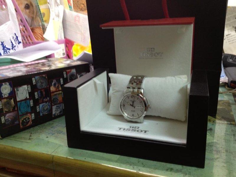 TISSOT瑞士天梭-PRC200 自動上鍊鋼帶時尚腕錶-銀白