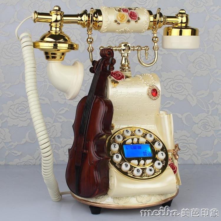 金順迪 歐式電話機復古仿古創意田園家用座機新款無線插卡電話機QM