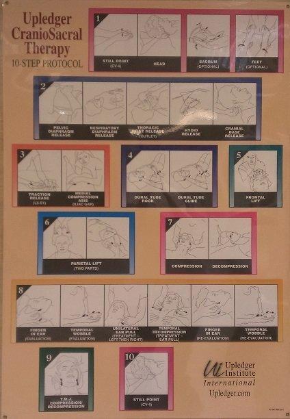 美國原裝進口***CST 10-Step Protocol Poster 顱薦椎治療十步曲 海報***