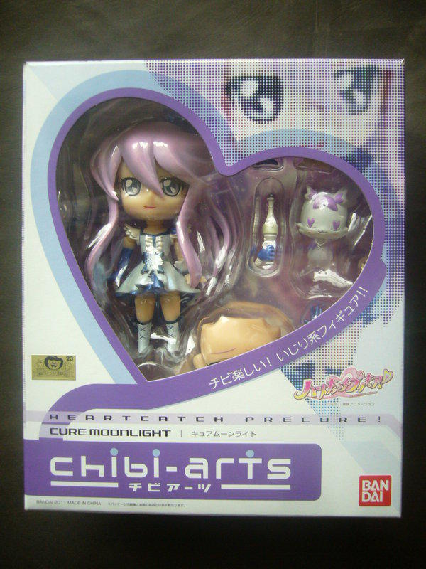 [Q樂蛋] BANDAI 日版 金証 CHIBI-ARTS Heartcatch 光之美少女 月光天使 Q版 黏土人 全新