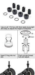 【勤利RC】 BLITZ 60603-V3 高度可調式車殼柱 套件