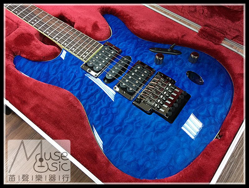 【苗聲樂器Ibanez旗艦店】Ibanez Prestige S6570Q-NBL 日廠電吉他