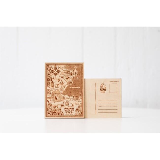 日本 東京 嚕嚕米樂園 Moomin 河馬家族 慕敏 限定 木製明信片