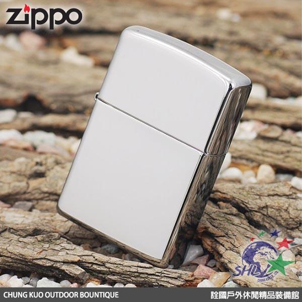 詮國  (ZP009) Zippo 美系經典打火機 - 經典素面 - 高磨光銀色鏡面 / NO.250REG