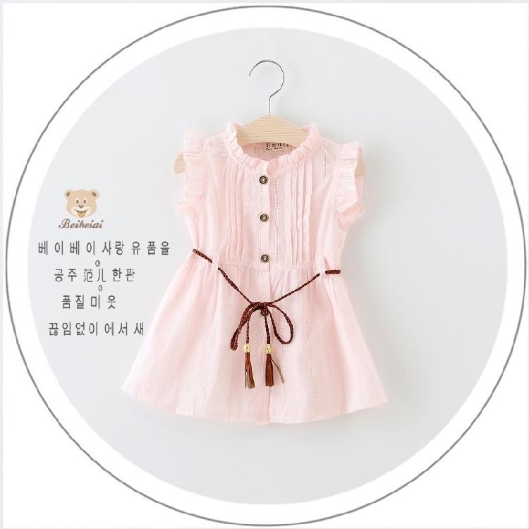 女寶寶夏季連衣裙純棉短袖女童公主裙0-1-2-3歲嬰兒棉麻長裙開衫
