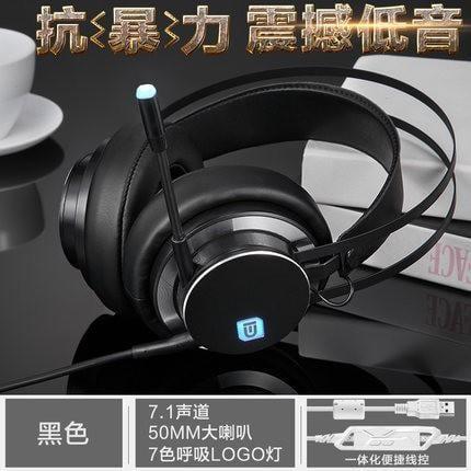 電腦游戲耳機7.1/3.5聲道頭戴式耳麥絕地求生電競帶麥克風網吧