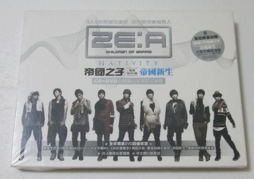 ZE:A帝國之子-首張迷你1輯帝國新生(CD+DVD台灣獨占豪華限定B盤,全新品未拆封)