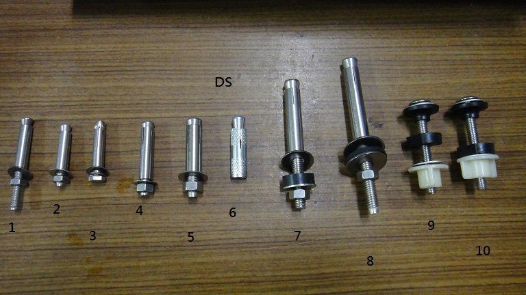DS水電王~2分 2.5分 3分 白鐵壁虎 內牙壁虎 面盆壁虎 加長壁虎 水箱固定螺絲