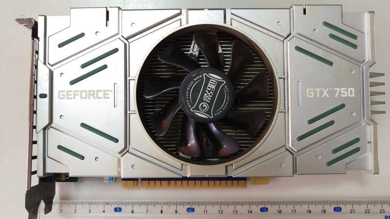 (陳13代)良品~Geforce GTX 750 1GB DDR5 顯示卡~DVI*1 VGA*1 HDMI*1輸出