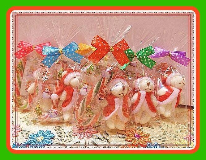 聖誕節熊&拐杖糖~多款可愛熊/兔任選~結婚禮小物二次進場送客禮品贈品