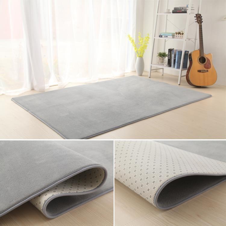 珊瑚絨加厚地毯客廳茶幾地毯臥室滿鋪地毯床邊毯榻榻米地墊