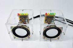 [含稅]迷你小功放透明水晶電腦音箱喇叭 電子DIY動手益智科技小製作套件