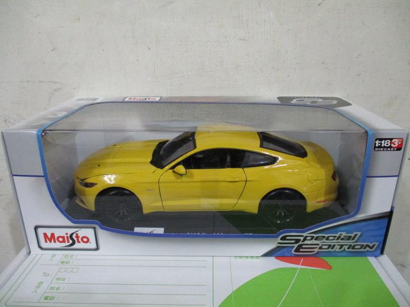 風火輪多美美捷輪Maisto黃1/18合金車福特2015 Ford Mustang GT野馬1:18跑車七佰九十一元起標
