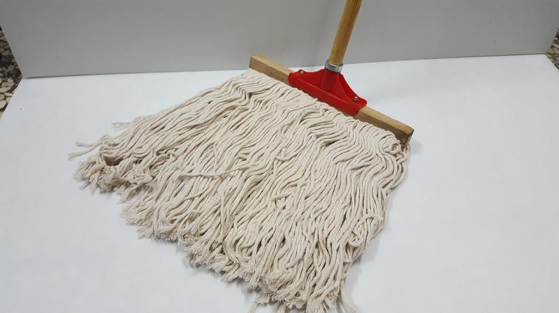 哈哈商城 台灣製 金獎牌 8寸 24cm T型 超吸水 棉紗 拖把 附鐵柄 ~ 掃具 清潔 去汚 掃把 吸塵 工廠 採購
