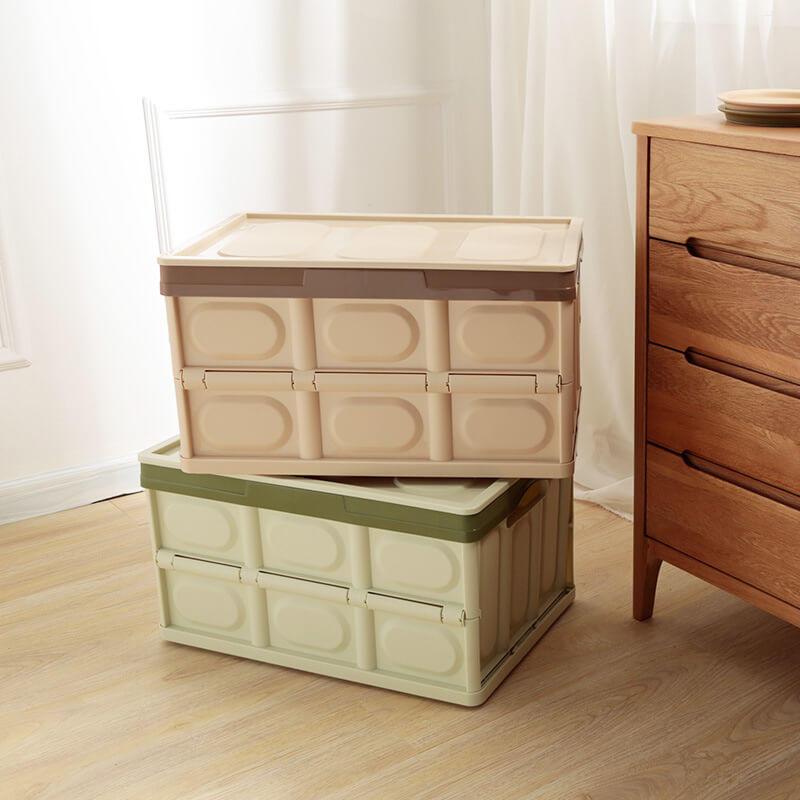 【中號52.5x36x29.5】家居用品塑料 可折疊收納筐 特大號車載後備儲物箱 整理箱 多功能儲物箱