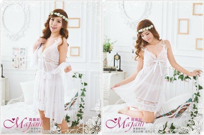 [瑪嘉妮Majani]中大尺碼- 質感好 柔軟 親膚 性感2件式 睡衣+睡袍 加大碼 特價590元 jp-401