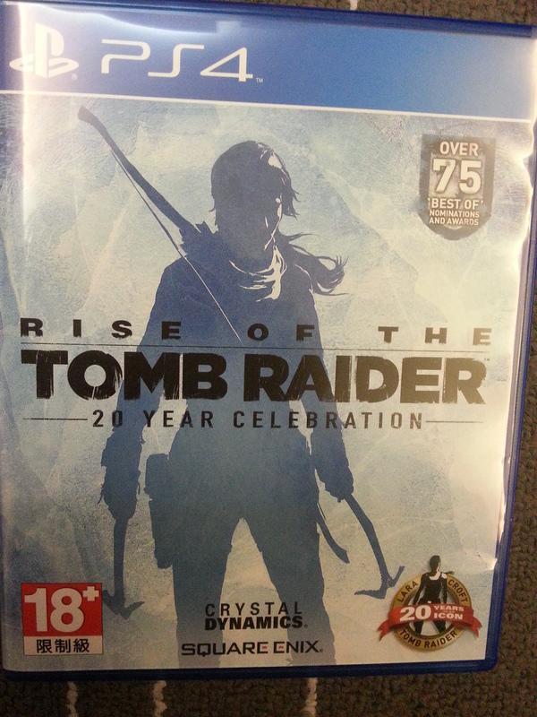 PS4 古墓奇兵 崛起 含dlc Rise of the Tomb Raider 中文版 中文 20週年紀念版 光碟無刮