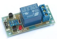 [含稅]1路單路5腳繼電器模組控制板擴展板5V和12V高電平 pcb套件成品