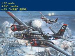 Trumpeter 小號手 1/32 美國 二戰 A-26C 入侵者式 中型轟炸機 組裝模型 塑膠模型
