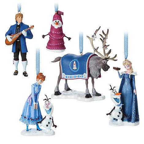【歐美迪士尼商店限定】Disney Frozen 艾莎 冰雪奇緣-雪寶的佳節冒險 2017 限量豪華聖誕節吊飾禮物盒