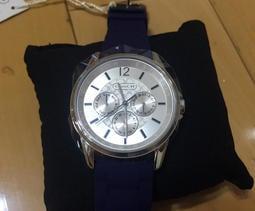 COACH Sig Sport 都會風尚三眼日曆休閒錶 手錶 腕錶 (寶藍/38mm) CO14501881