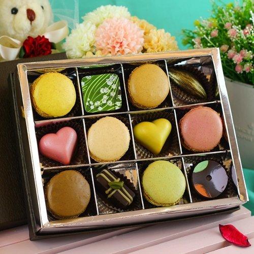 JOYCE巧克力工房工房- 混搭風綜合手工巧克力禮盒【手製巧克力、馬卡龍】