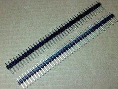 [含稅]普通單排排針 2.54MM間距 40P針  總針長11mm pcb貼片用圓頭鍍金優質款