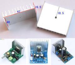 [含稅]電子diy小製作 小功放功率管用鋁散熱器 散熱片 散熱板