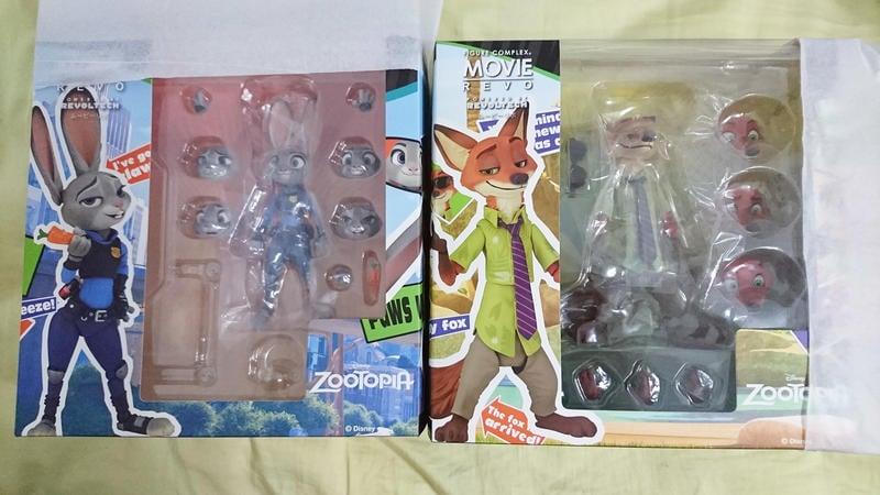 (2隻不分售)日空版 Zootopia 海洋堂 山口 迪士尼 動物方城市 狐狸 尼克 胡尼克+兔子警官 哈茱蒂 可動
