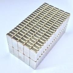 [含稅]強力磁鐵超強釹鐵硼方形強磁吸鐵石磁性貼片玩具掛鉤扣科技小製作尺寸10*20*厚5毫米