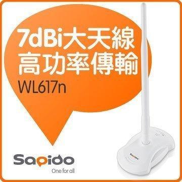 @淡水無國界@全新 Sapido WL617n 30dBm 無線網卡 超高功率無線網卡