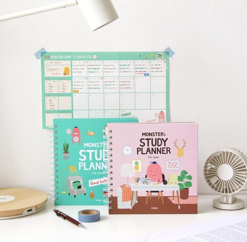 現貨 韓國空運 韓國文具 indigo 一年 12個月 讀書計畫本 10分鐘 學習計畫 行事曆 手帳 筆記本 記事本
