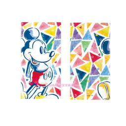 asdfkitty可愛家☆迪士尼米奇彩色抗菌口罩收納夾/收納套-可收納3個紙口罩-日本製
