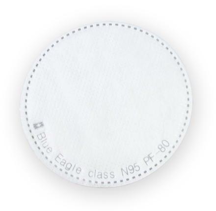 【威威五金】1片】全新 台灣 藍鷹牌 直徑約 80mm 超細纖維防塵片 防毒面具用濾棉 N95 口罩過濾棉 PF-80