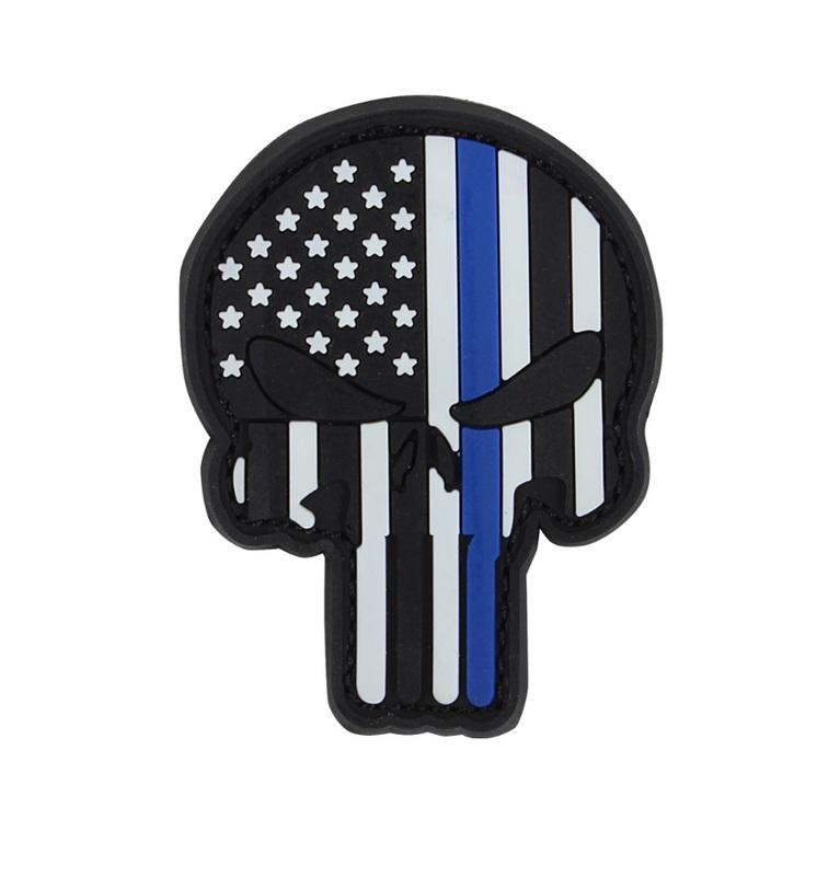 【TAF 現貨】CONDOR 181003 Punisher Patches 懲罰者PVC臂章 (Blue Line)