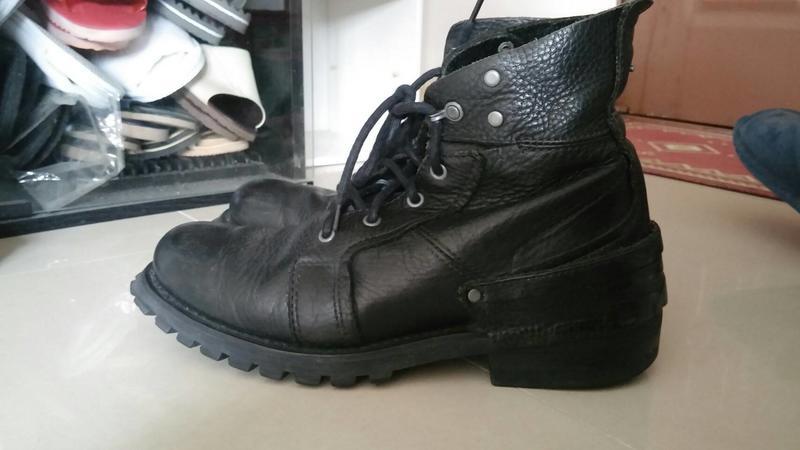 喵 中古 CAT 黑 靴 軍靴 應該是10號43