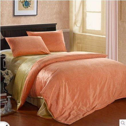 整點聚 全棉田園四件套 床單式雙人床上用品 純棉被套床單