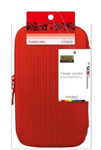 New3DSLL主機通用 原廠 irodori TRUNK COVER 旅行硬殼包 防震包 主機包 紅色款【板橋魔力】