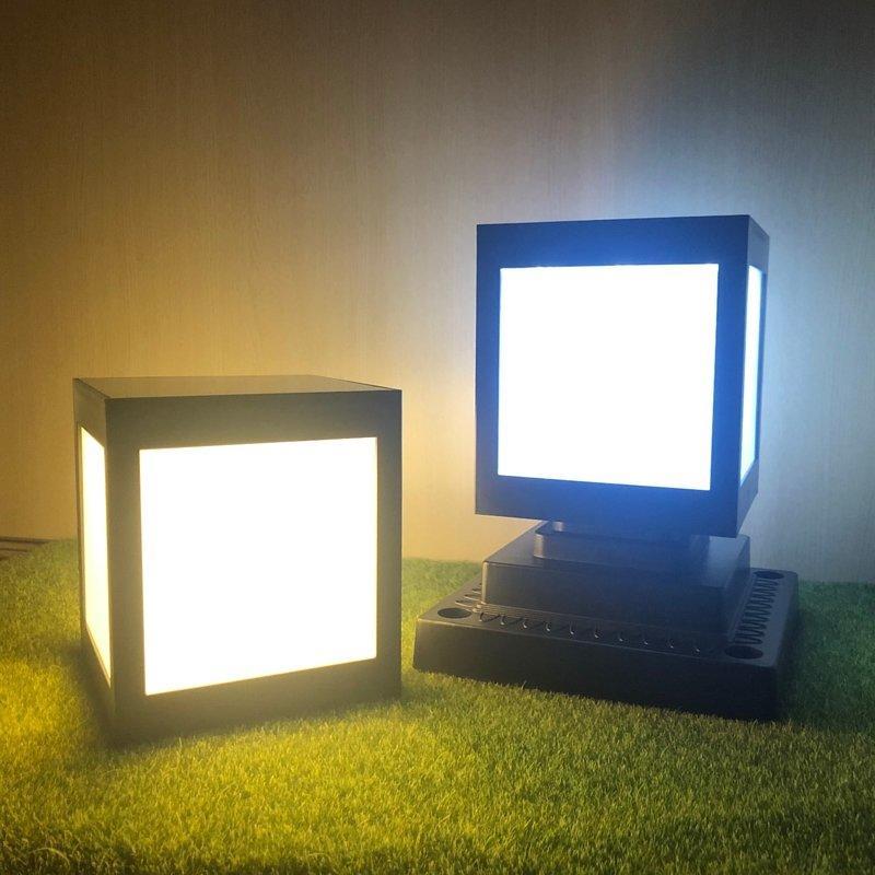 ☀️傑能科技☀️12LED太陽能方形柱頭燈 牆頭燈 方形門柱燈 方形燈 圍牆燈 庭院燈 造型燈 Z-90 面向陽光