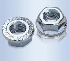 [含稅]優質電鍍 六角法蘭螺帽 螺母 螺帽 m3法蘭螺母 防滑更緊固(5個一拍)
