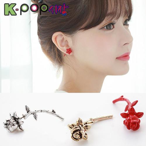 韓國시크로즈耳飾 正韓進口ASMAMA官方正品 INFINITE 東雨 同款立體玫瑰造型耳釘耳環 (單支價)