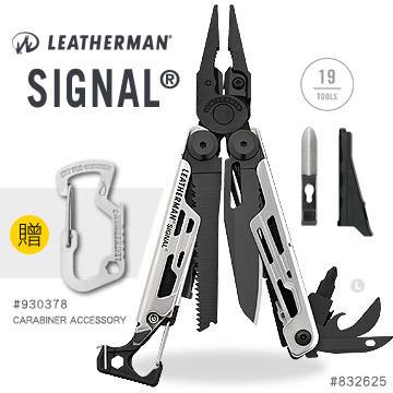 【angel 精品館 】Leatherman SIGNAL 工具鉗-黑銀款 832625 黑尼龍套