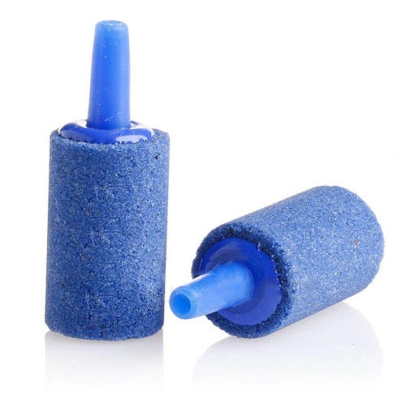 👏台灣現貨👏水族 魚缸 迷你 藍色 灰色 氣泡石 圓柱形金剛砂高溫燒結氣泡石/氣泡盤/打
