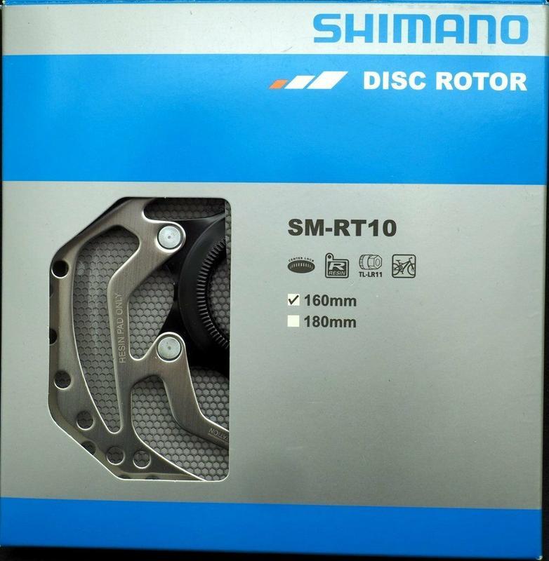 艾祁單車 Shimano SM-RT10中心鎖入碟盤160mm 公司貨