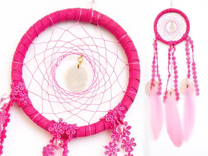 捕夢網 - diy材料包★桃紅色★ 繼承者們款式 - 情人節禮物、聖誕禮物、交換禮物、生日禮物、畢業禮物最佳選擇