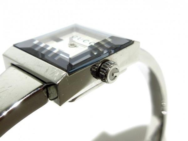 可使用~GUCCI 古馳~128.5 ~白面盤金屬錶帶~~是代標不是現貨~女用錶電池錶徑18X14mm錶帶長16cm