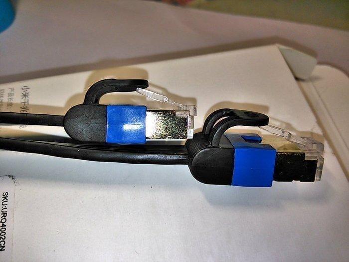 小米原廠千兆網線CAT.6網路線3公尺(M米) 24K鍍金水晶頭 扁平線 RJ45 Gigabit 1000 Mbps